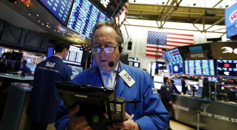 Trader Steven Kaplan works on the floor of the New York Stock Exchange, Wednesday, Dec. 26, 2018.