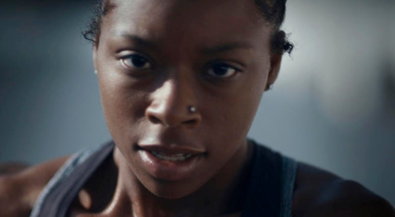 "This undated image provided by Toyota Motor North America shows a scene from the company's 2019 Super Bowl NFL football spot starring Antoinette ""Toni"" Harris, a female football player at a California community college."