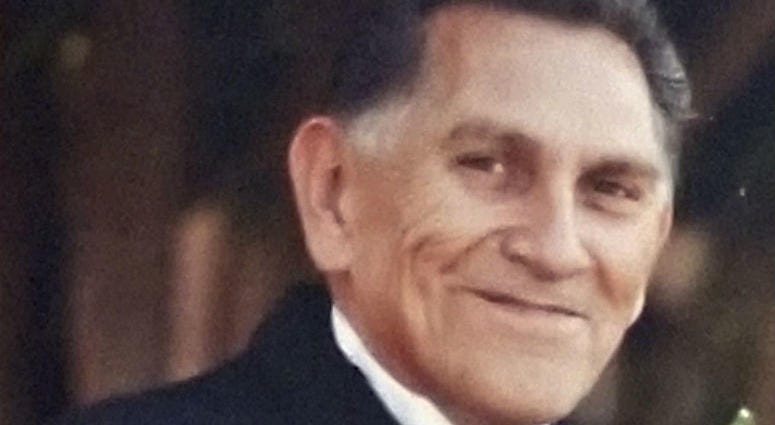 This 2009 photo provided by Catherine Quintana shows her father, Ernest Quintana, in Fremont, Calif.