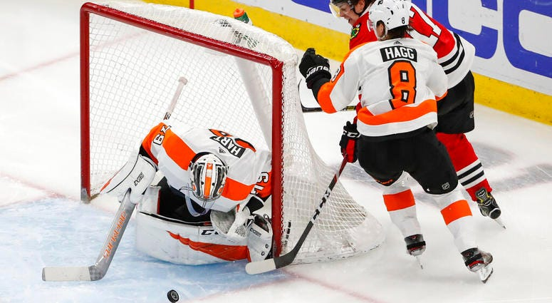 Philadelphia Flyers versus Chicago Blackhawks