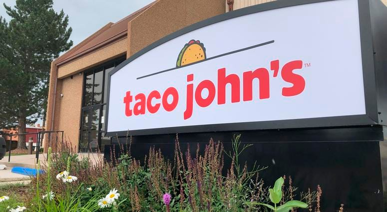 In this Aug. 1, 2019 photo the corporate headquarters of Cheyenne-based Taco John's, which has nearly 400 locations in 23 states, is seen in Cheyenne, Wyo.