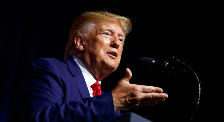 President Donald Trump speaks at the 2019 Second Step Presidential Justice Forum at Benedict College, Friday, Oct. 25, 2019