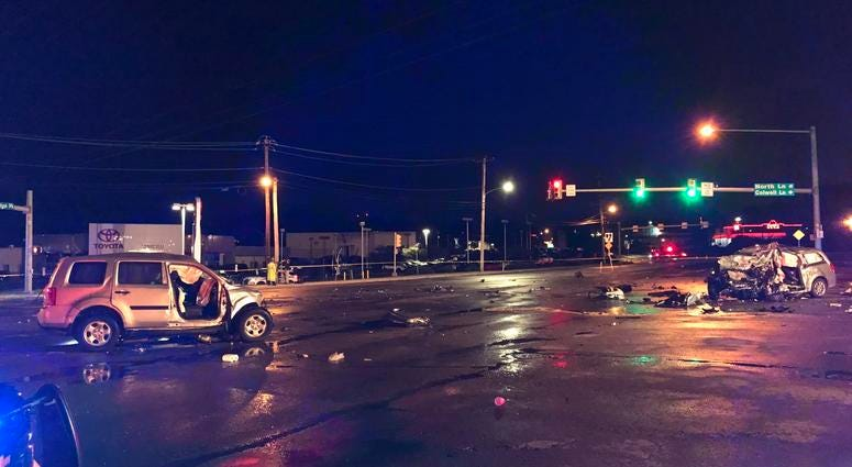 A deadly crash had a section of Ridge Pike closed in Plymouth Township Friday morning.