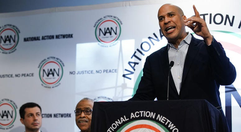 U.S. Democratic presidential candidate Sen. Cory Booker (D-NJ) speaks at the National Action Networks Southeast Regional Conference on November 21, 2019 in Atlanta, Georgia.