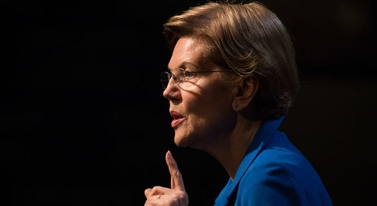 Democratic presidential candidate Sen. Elizabeth Warren (D-MA) delivers an economic policy speech.