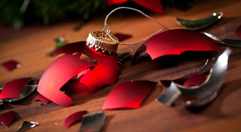 Broken Christmas tree ornament.