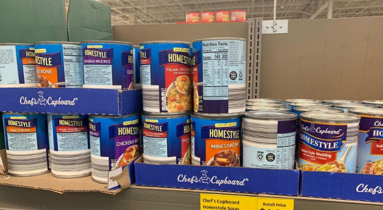 Some soups by BCI Foods at ALDI.