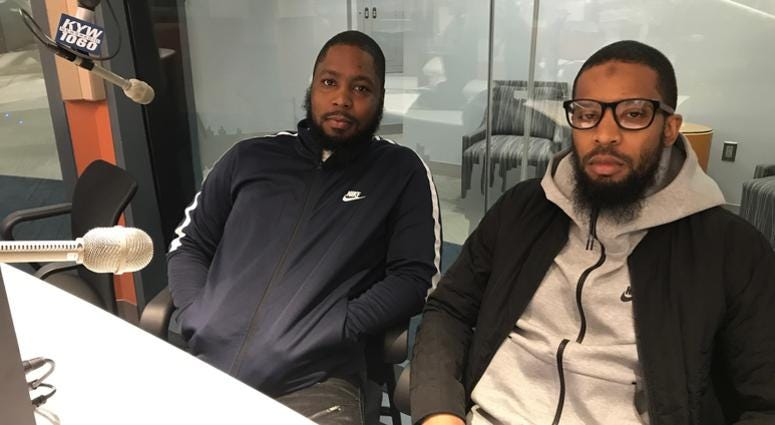 Jamaal Simmons (right) and his brother, Akeem. Jamaal was sentenced to 15 to 30 years behind bars in 2012 for a crime he says he didn't commit. A judge dropped the charges last month.