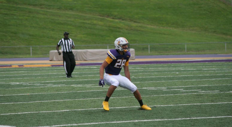 West Chester University sophomore linebacker Nate Barnes