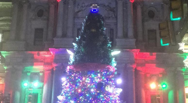 From Mayor Jim Kenney to the Flyers' mascot Gritty, Philadelphians of all walks of life come together for the city's annual Christmas tree lighting.