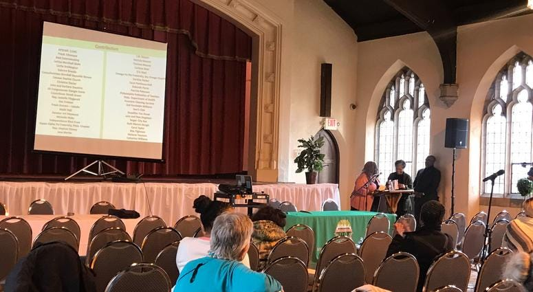 """The """"Gun Violence: Beyond a Conversation"""" event at Canaan Baptist Church in Germantown included a gun buyback event."""