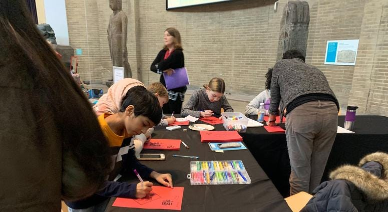 The Penn Museum hosted an educational event for young visitors about holiday celebrations across the globe.
