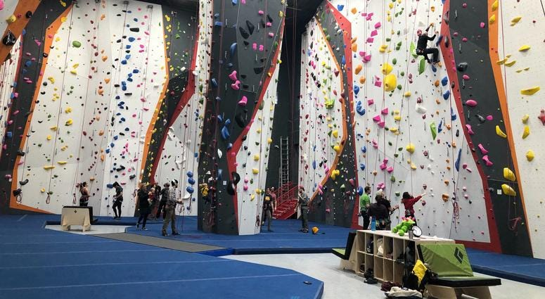 The Cliffs at Callowhill opened Saturday morning. At 40,000 square feet, it is the largest rock climbing gym in Pennsylvania.