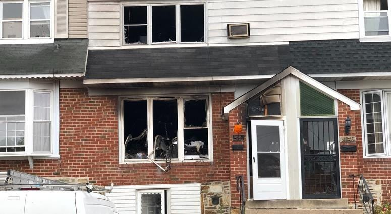 Two people were killed and two others are injured after fire broke out inside this home in Northeast Philly house overnight.