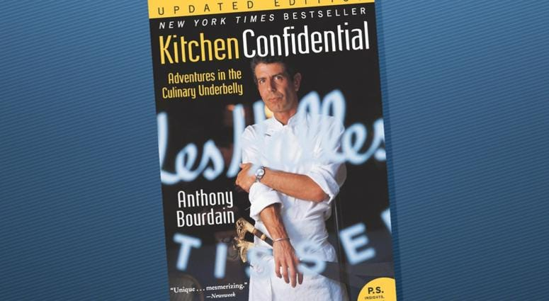 """Kitchen Confidential: Adventures in the Culinary Underbelly"" has shot to the top of Amazon's bestseller list following news that the chef and television host took his own life Friday."