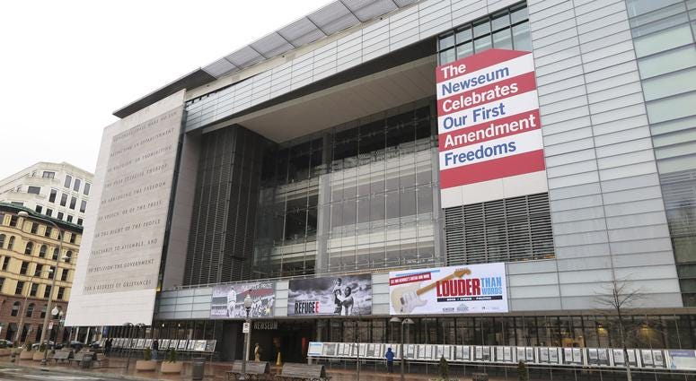The Newseum pulled the shirts and issued an apology one day after criticism erupted from both the public and journalists for selling a shirt with a catchphrase used by President Trump to disparage the media.