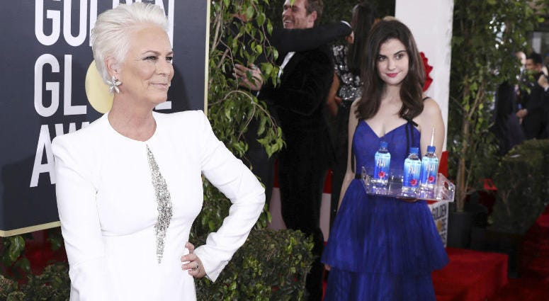Los Angeles-based model and actress Kelleth Cuthbert went viral after photobombing celebrities on the Golden Globes red carpet.