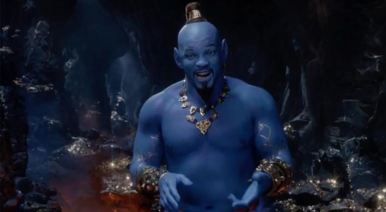 "Will Smith as the Genie in ""Aladdin."""