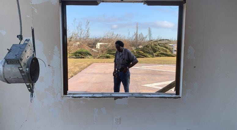 """Grand Bahama right now is dead,"" resident Washington Smith says. His home and business were destroyed by the storm."