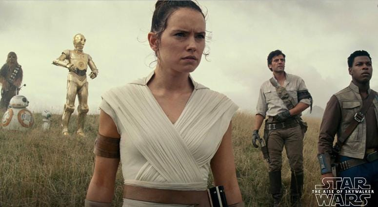 Still image from the film 'Star Wars: The Rise of Skywalker'