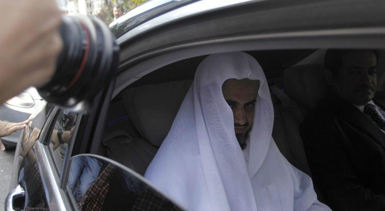 Saudi Arabia's top prosecutor Saud al-Mojeb leaves his country's consulate in Istanbul, Tuesday, Oct. 30, 2018.
