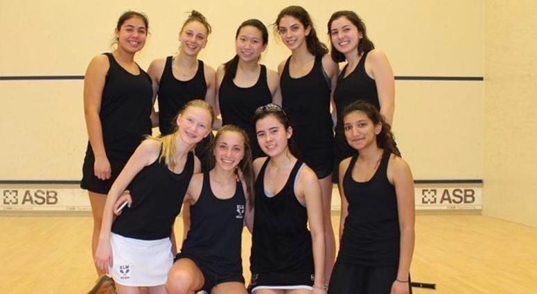 Kiran Khurana's squash teammates