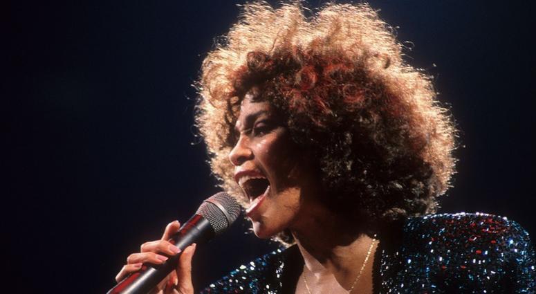 Whitney Houston in concert at Madison Square Garden in New York City, NY on September 8, 1987.