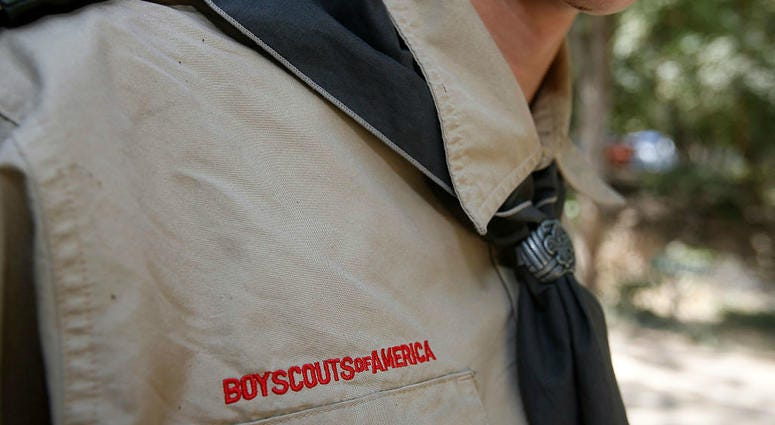 A Boy Scout attends camp Maple Dell on July 31, 2015 outside Payson, Utah.