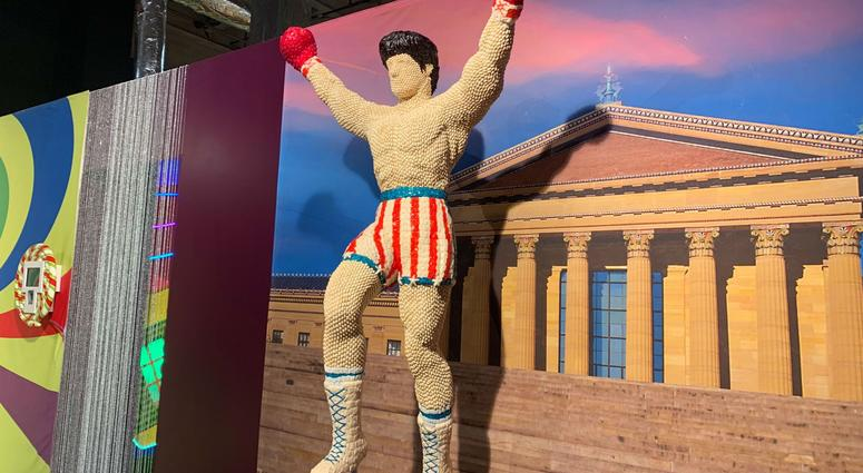 A candy sculpture of Rocky.