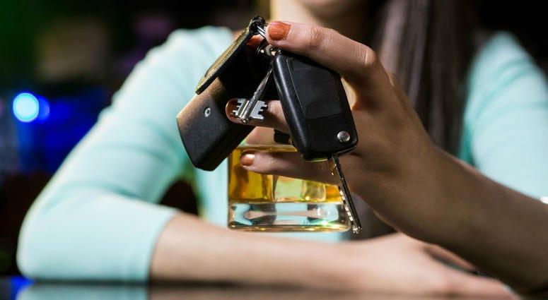 whiskey and car keys