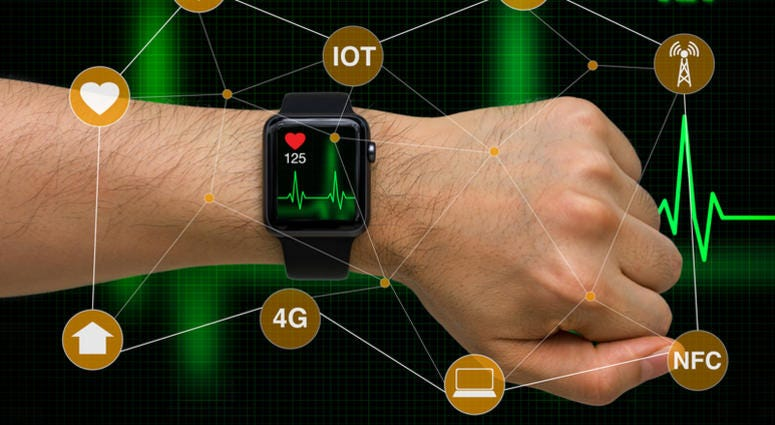 smart watch monitoring heart rate