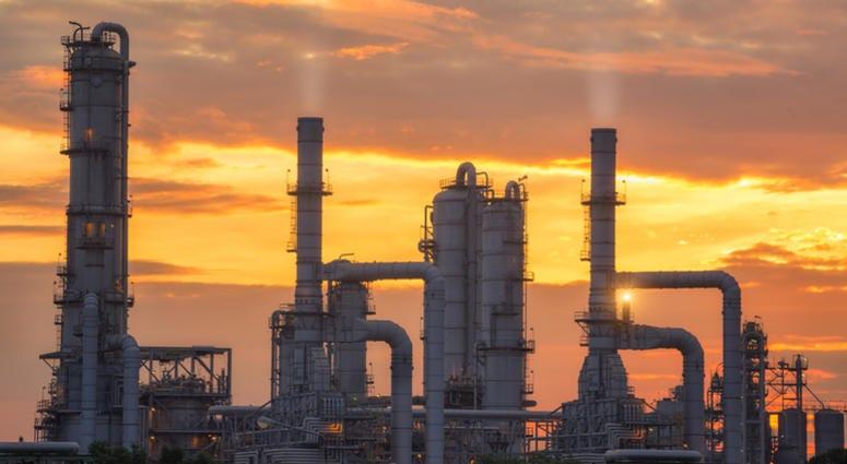Chemical plant.