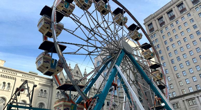 The Ferris wheel is one of the new additions to the holiday market in Center City.