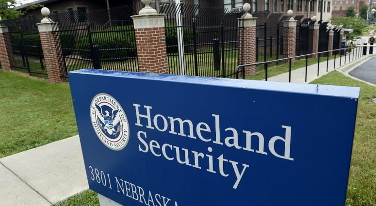This June 5, 2015, file photo, shows the Homeland Security Department headquarters in northwest Washington.