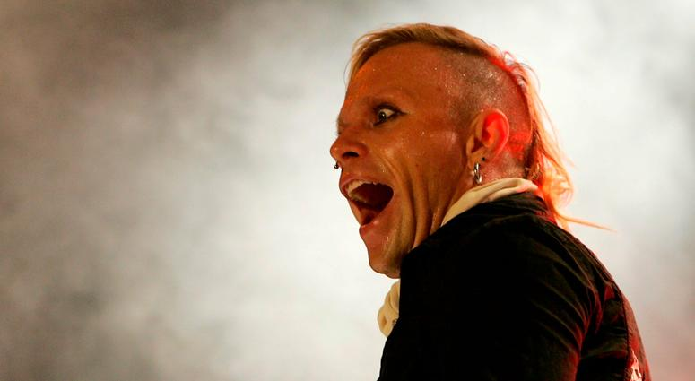 Keith Flint, singer of the British band Prodigy, performs on stage, at the Gurten open air Festival in Bern, Switzerland, in 2005.