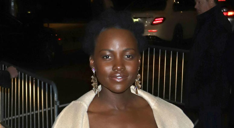 """Lupita Nyong'o attends a screening of """"Black Panther"""" at the Museum of Modern Art in New York"""