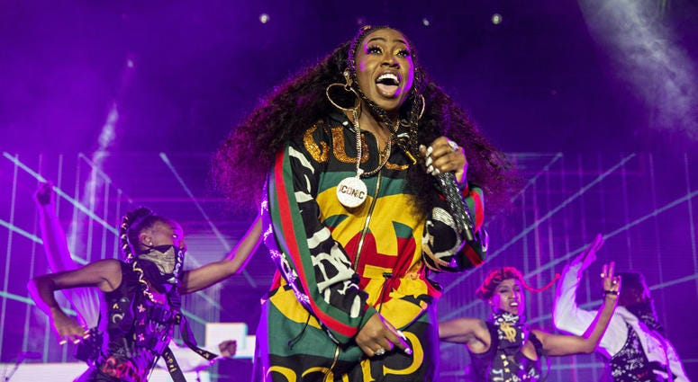 Missy Elliott performs at the 2018 Essence Festival in New Orleans.