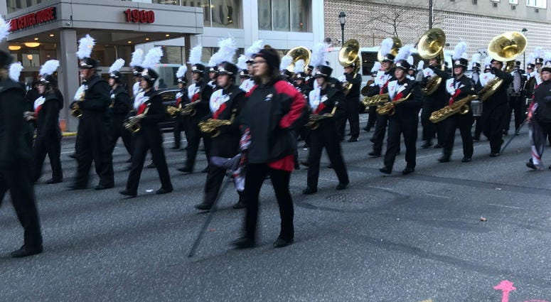 Marching band at the 2018 Thanksgiving Day Parade