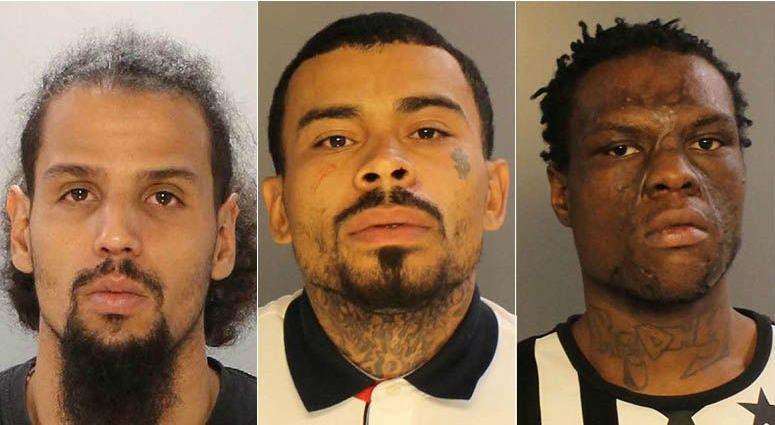 From left: Freddie Perez, Francisco Ortiz, Trayvon Thomas