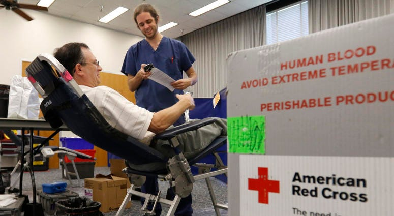 Red Cross blood donations