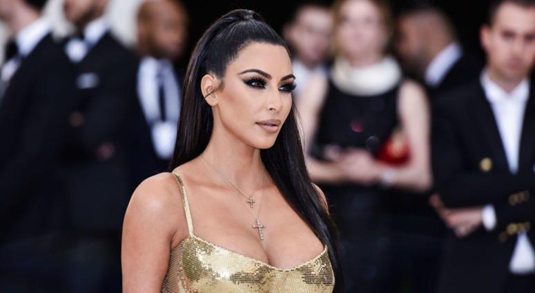 Kim Kardashian West walking the red carpet at The Metropolitan Museum of Art.