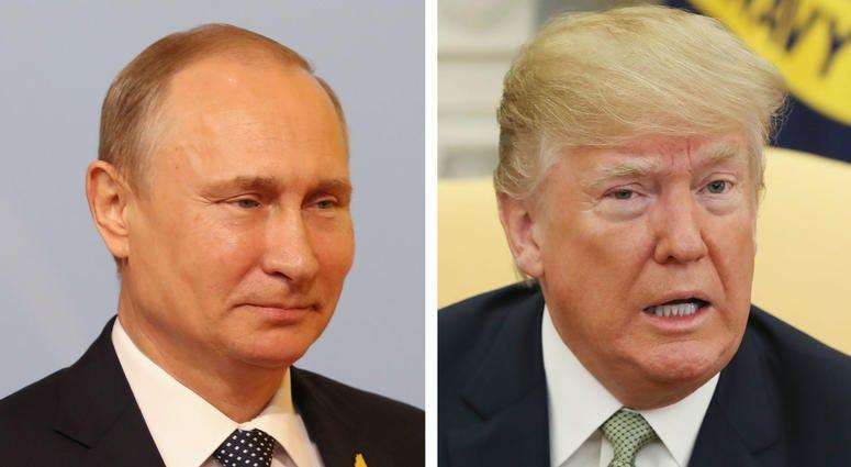 Russia's Vladimir Putin and U.S. President Donald Trump