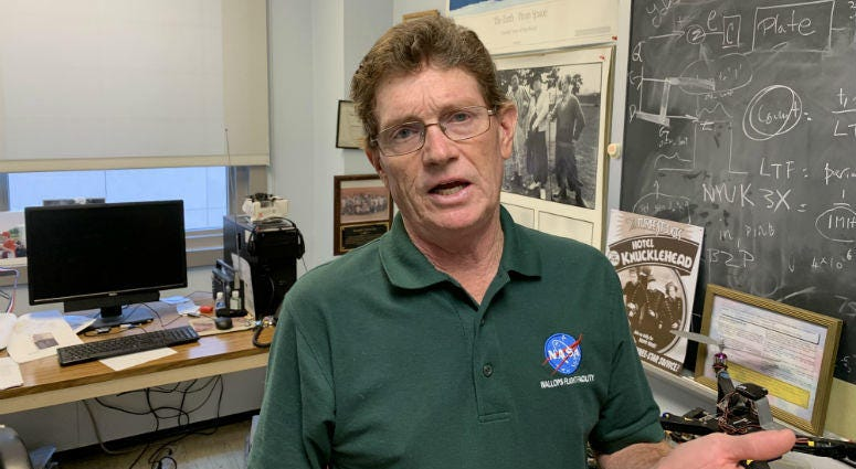 John Helferty says the Apollo 11 mission sparked his interest in space exploration and rocketed him to a connection with NASA.