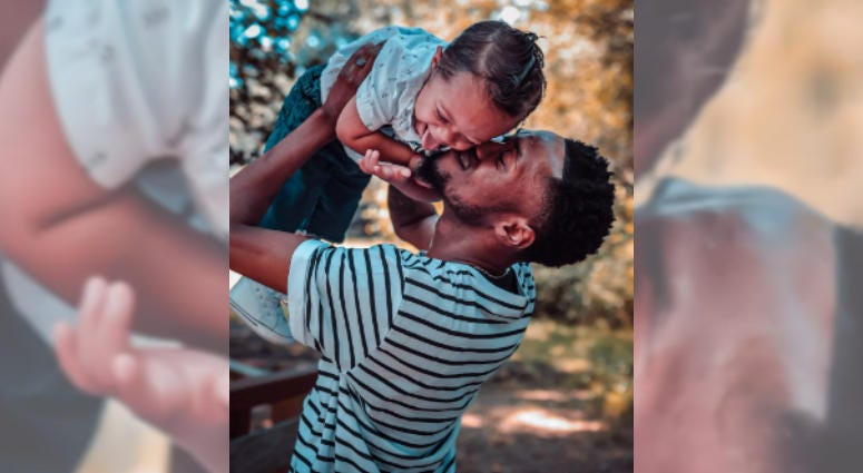 Kenny Thomas, who went viral for dancing by his son Kristian's crib, now says Kristian is cancer-free.