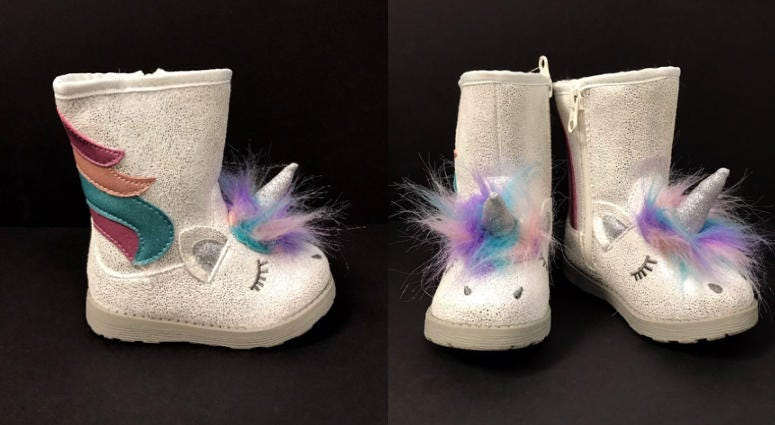 "About 33,600 Cat & Jack Unicorn ""Chiara"" Boots have been recalled."