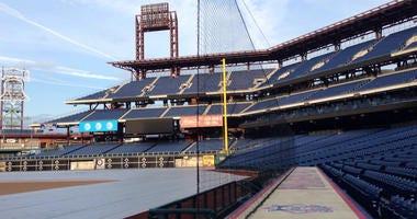 Netting at Citizens Bank Park in Philadelphia.