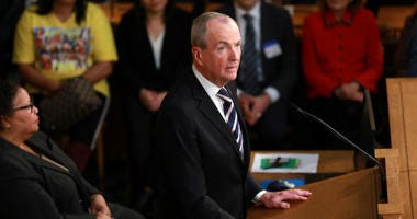 Governor Phil Murphy gives the State of the State Address in the Assembly Chambers at the Statehouse in Trenton, N.J. on Tuesday, Jan. 15, 2019.