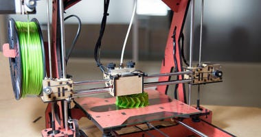 3D printing or additive manufacturing (AM) is the use of one of various processes to make a three-dimensional object. This model is powered by technology FDM.