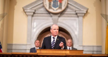 Gov. Phil Murphy delivers his first State of the State address in Trenton, New Jersey, on Jan. 15, 2019.
