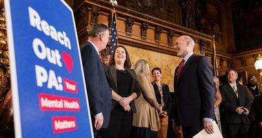 Pennsylvania Gov. Tom Wolf as he launches 'Reach Out PA: Your Mental Health Matters'